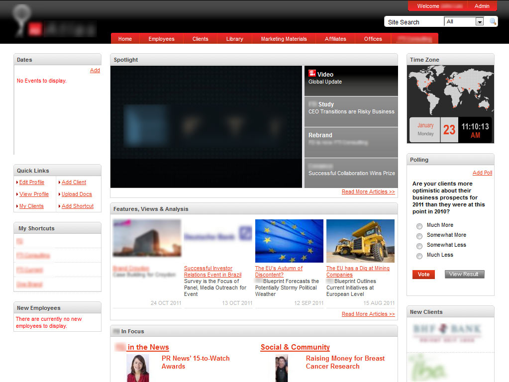 intranet design ideas