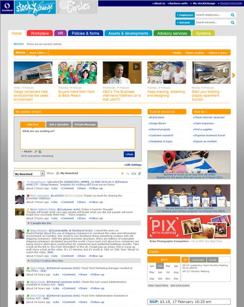 Newsgatorexample. Intranet Design3