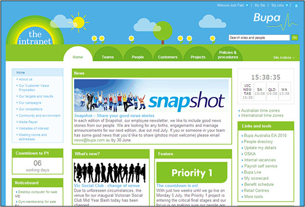 sharepoint examples intranet examples - Intranet Design Ideas