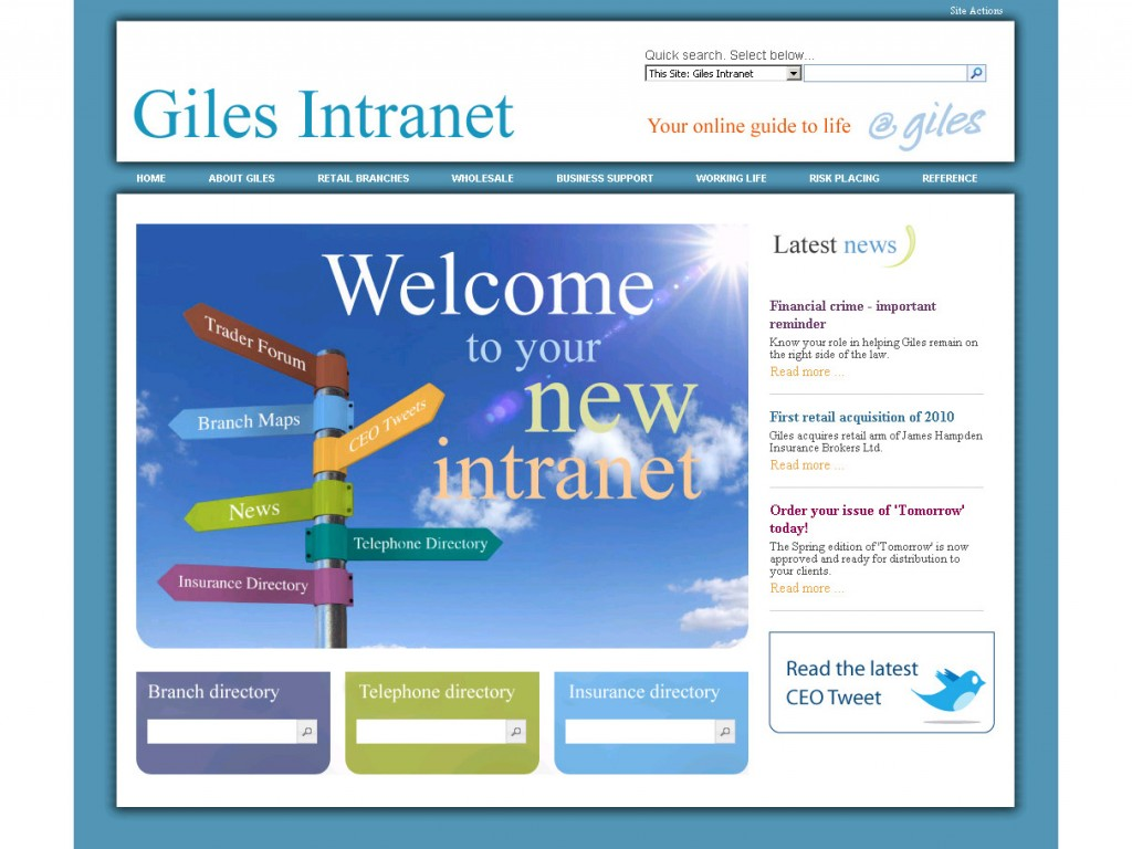 intranet giles1 1024x768jpg - Sharepoint Design Ideas